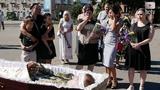Прощання з вйськовим 72- ОМБР, якого вбили в мст Лисичанськ