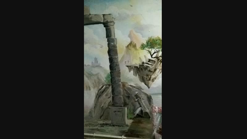 Роспись стен антикафе Слон (Острогожск)