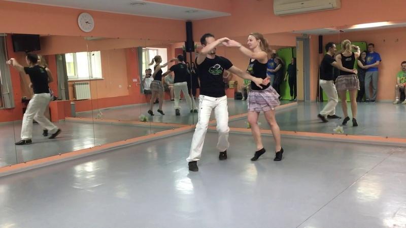 Forro dance in Novosibirsk. Slava Olya