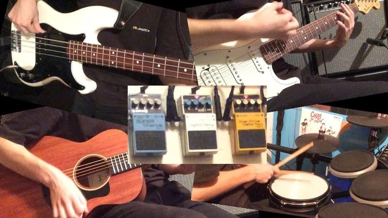 Кавер на песню Стук. Группы Кино. Гитары, бас, барабаны.