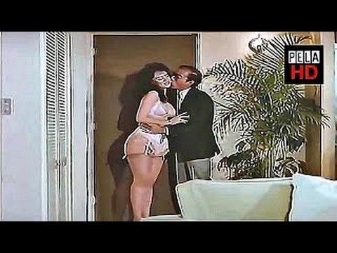 Lina Santos en lenceria recibe al caballo Rojas-Pela HD
