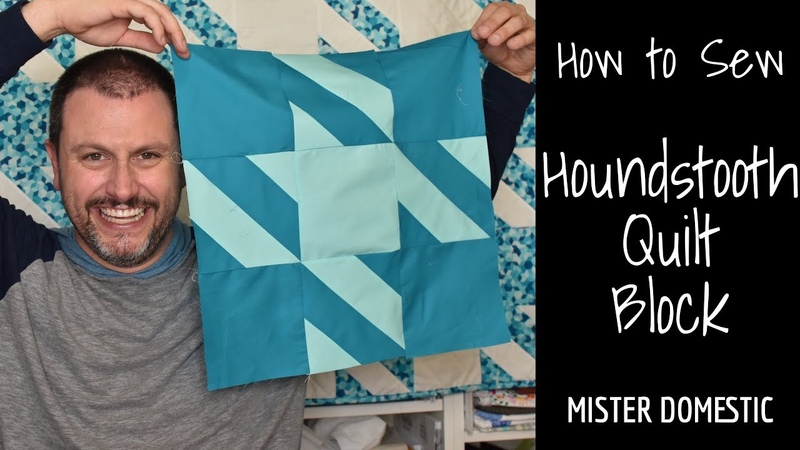 How to Sew: Houndstooth Quilt Block with Mister Domestic
