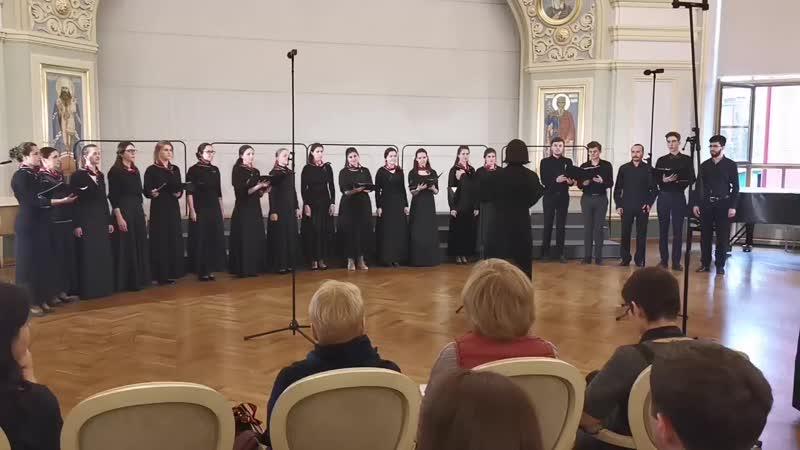 Рыцарский романс - Камерный хор ПСТГУ под управлением диакона Алексея Зайцева