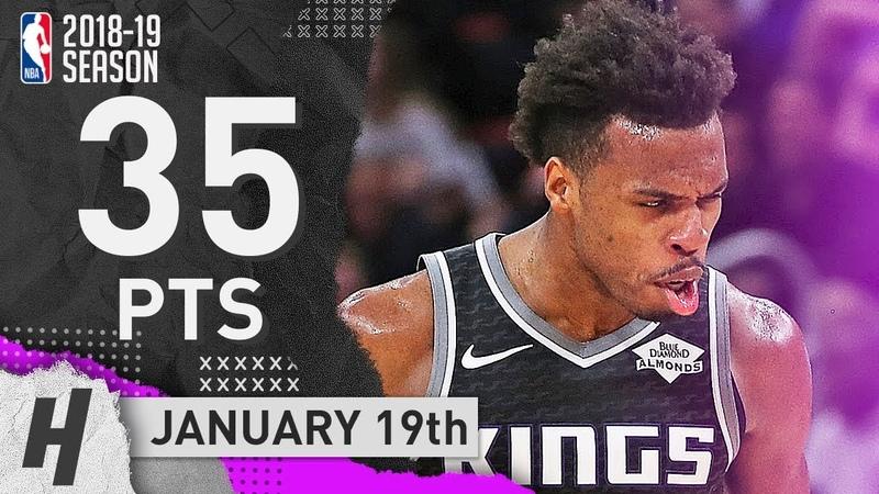 Buddy Hield CLUTCH Full Highlights Kings vs Pistons 2019.01.19 - 35 Pts, GAME-WINNER!