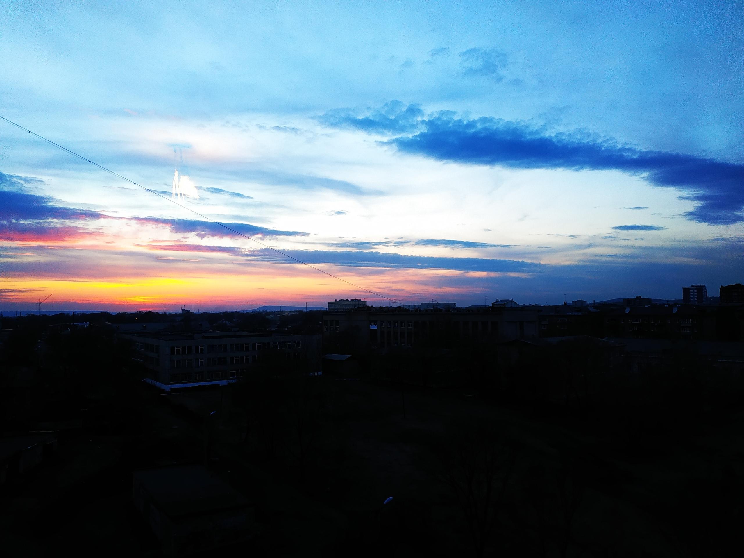 Сегодня был фантастический закат)