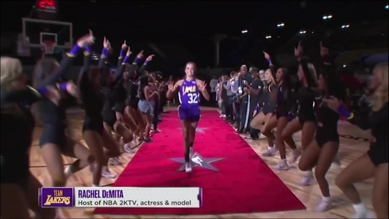 Rachel DeMita With NBA2K Worthy Performance In 2018 Celebrity All-Star Game _ Pr