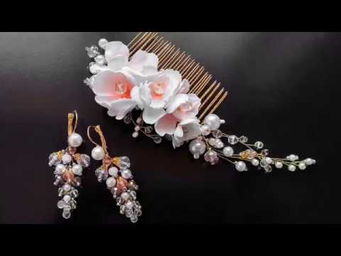 ✨TamireStudio✨DIY✨HOW TO MAKE A BEAUTIFUL HAIR DECORATION OF BEADS WIRES AND FOAMIRANA✨
