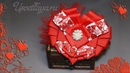 Как сделать бантик - сердце на День Св. Валентина/How to make a ribbon heart for Valentine's Day.