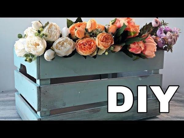 DIY Красим деревянный ящик меловым спреем Rust Oleum Chalked и делаем винтажный эффект