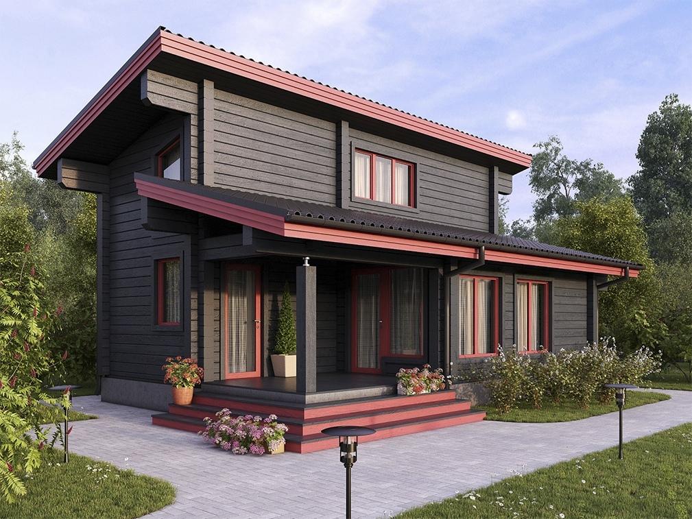 односкатная крыша двухэтажного дома