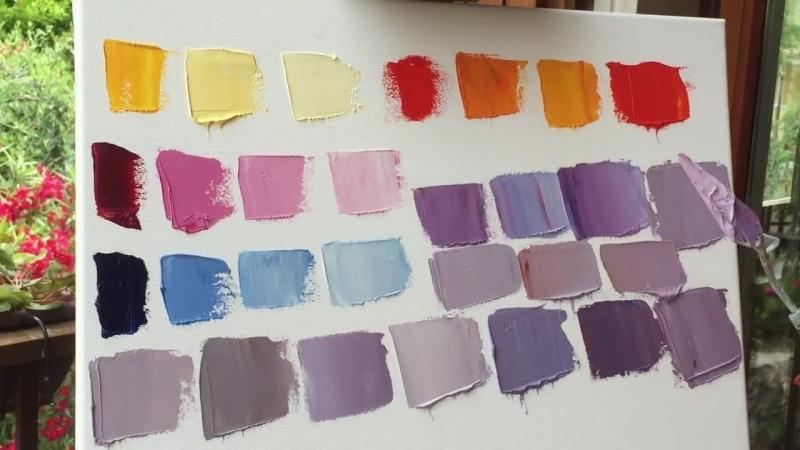 Как правильно смешивать краски и получать желаемые оттенки Школа Искусств Перотти