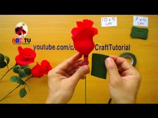 ABC TV _ How To Make Rose Paper Flower From Crepe Paper - Easy Craft Tutorial.mp4