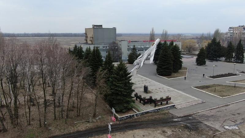 Пам'ятник стела в місті Авдіївка одна із візитівок міста