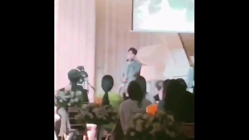 180623 Чанмин поёт на свадьбе
