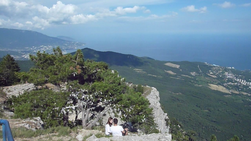Крым. Панорама на море с горы Ай-Петри