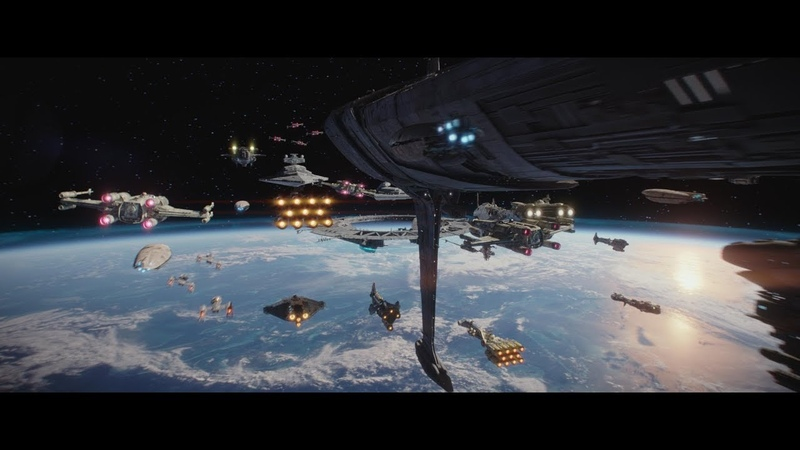 (Re-Upload) Rogue One: A Star Wars Story - Space Aerial Battle of Scarif Supercut HD