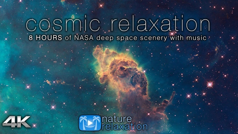 COSMIC RELAXATION: 8 HOURS of 4K Deep Space NASA Footage Chillout Music for Studying, Working, Etc