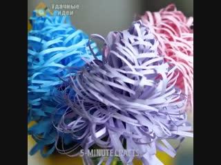 Невероятно крутые бумажные цветы своими руками