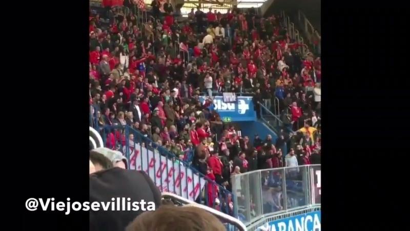 Sevilla escucha esta es tu grada!! - Chapo nuestra aficion fuera de casa - Gracias tambien a la aficion del @RCDeportivo - RT si