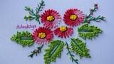 Hand Embroidery Knotted lazy daisy stitch Bordados a Mano Puntada margarita anudada Artesd'Olga