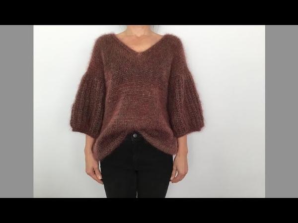 Модный мохеровый свитер. Важное объявление относительно кардиганa из пряжи Drops Baby Alpaca Silk.
