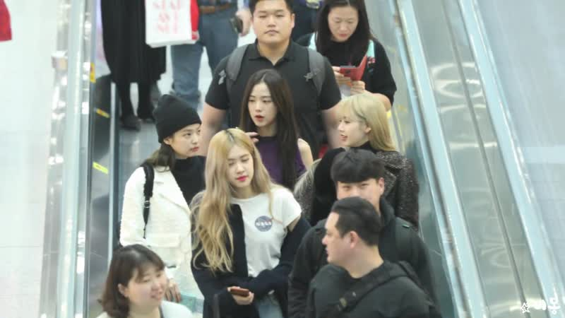 190118 LISA @ Incheon airport (Korea) to Soekarno-Hatta airport (Jakarta, Indonesia)