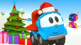 Leo the truck, kids' cars and robots for kids. A Christmas cartoon.