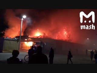 В Ахтубинске полыхает рынок «Джулия»