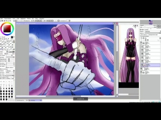 Speedpaint (Paint Tool SAI) Fate/stay night / Rider
