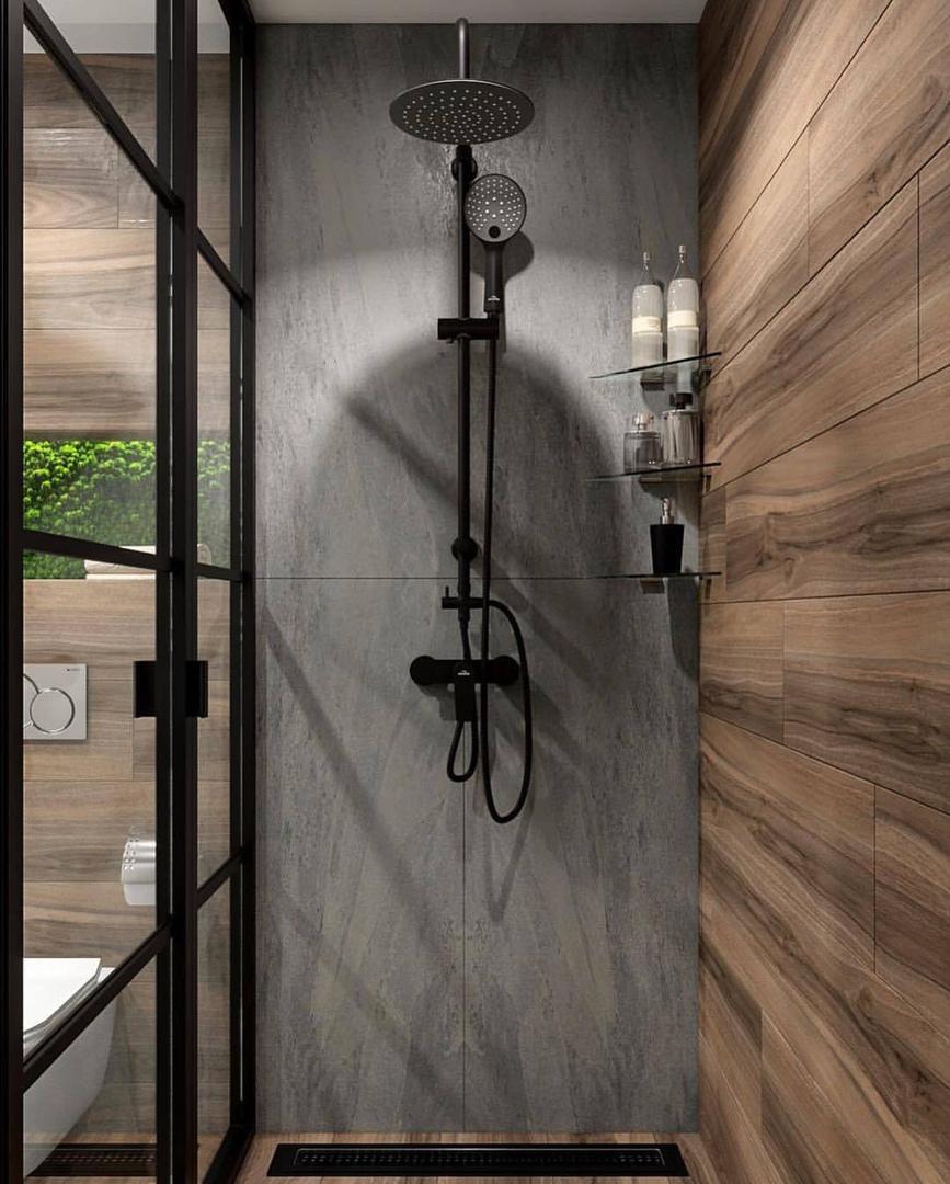 Стильная и компактная ванная комната от Катерины Гусевой