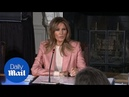 Melania Trump promotes her 'Be Best' campaign during meeting