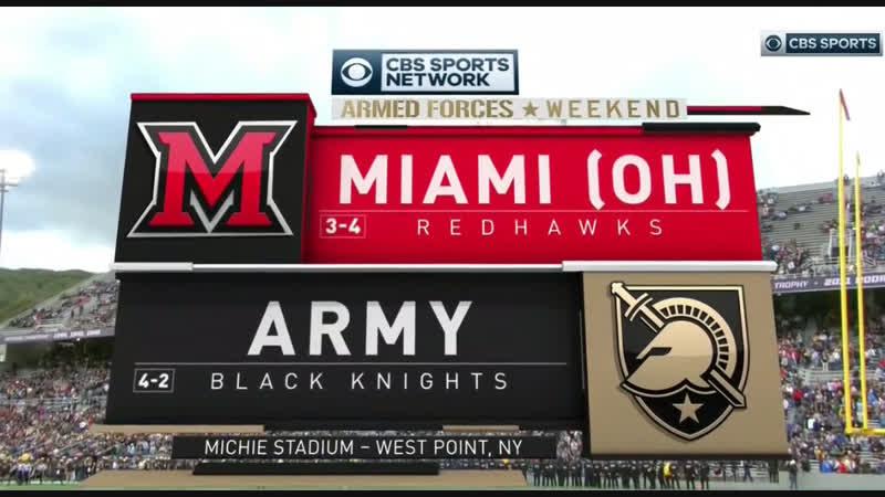 NCAAF 2018 Week 08 Miami (OH) RedHawks - Army Knights 1Н EN