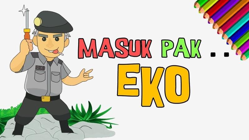 Masuk Pak EKO | Menggambar sosok Pak Eko