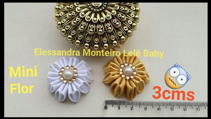DIY:MINI Flor de Cetim!!🌸Super Facil|Elessandra Monteiro Lelê Baby