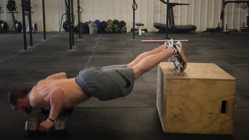 Feet Elevated DB Push Ups