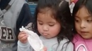 Little girl wows crowd with magic trick