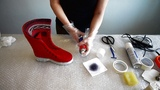 Как обработать обувь из войлока воском и тонировать