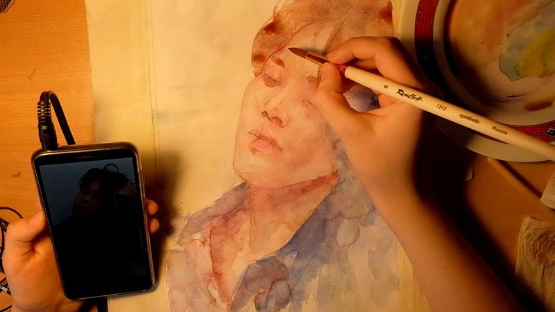 Jimin of BTS Speed Paint Watercolor