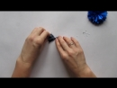 Васильки из лент Резинки для волос Канзаши МК Hand Made DIY