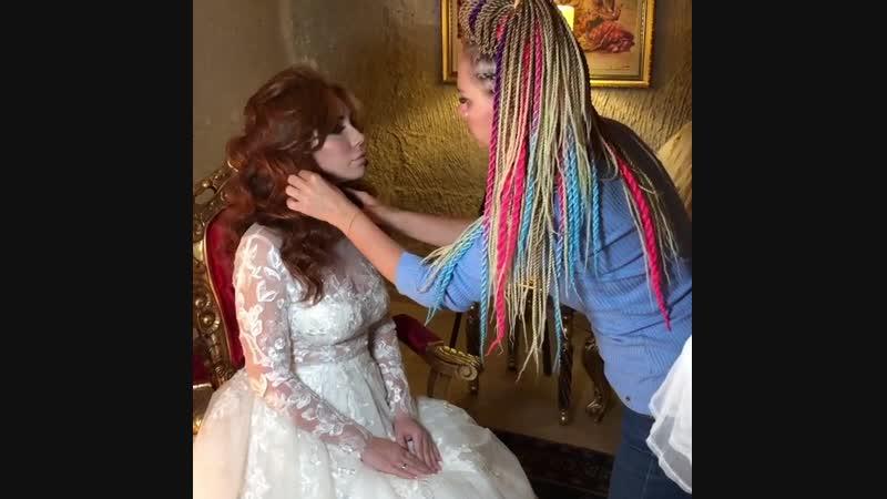 Отчёт великолепной свадьбы в Каппадокии! Наша красивая невеста на фоне воздушного шара! Даже не дождавшись профессиональной фот