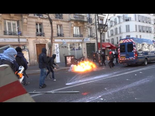 Manif lycéenne et étudiante contre la Loi Travail / émeute dans Paris - 17 mars 2016