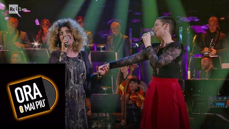 Silvia Salemi e Marcella Bella cantano Nellaria - Ora o mai più 19012019