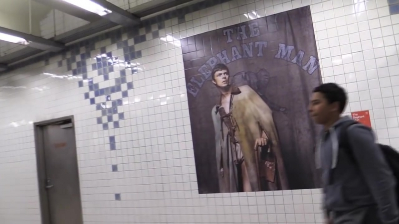 David Bowie Is Here Subway Exhibition @ Broadway Lafayette Subway Station 4-18-18