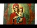 Купить икону от пожара - Икона старинная Богородицы Неопалимая Купина. DR0204