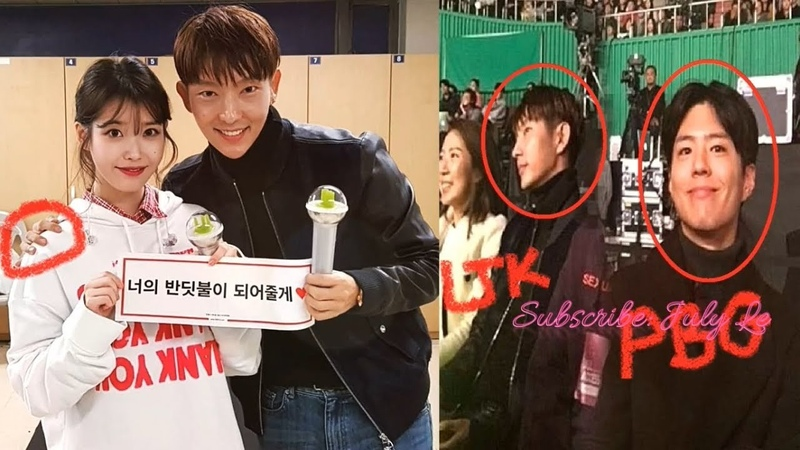 [2017.12.10] Lee Joon Ki 이준기 Park Bo Gum 박보검 spotted at IUs Concert In Seoul