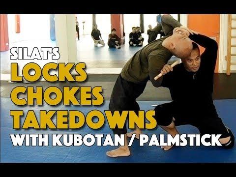 Jointlock , Chokes Takedowns with the Kubotan Palmstick - Silat Suffian Bela Diri