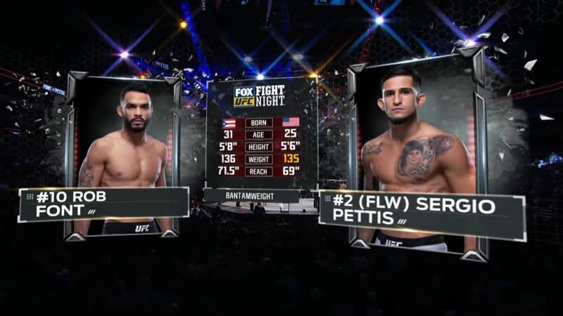 UFC FOX 31 Роб Фонт — Сержио Петтис