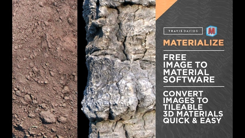 Materialize - FREE TOOL - Convert Images To Tileable 3D Materials Quick Easy