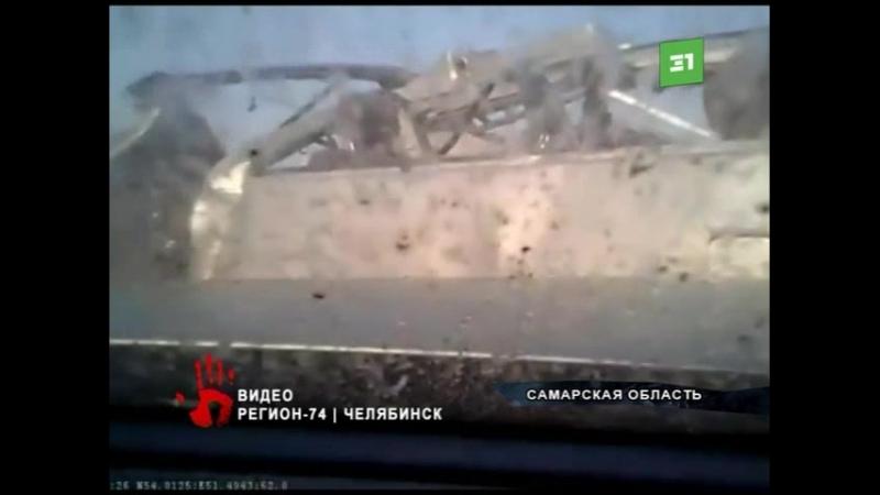 Жуткая авария с участием челябинской фуры попала на видео