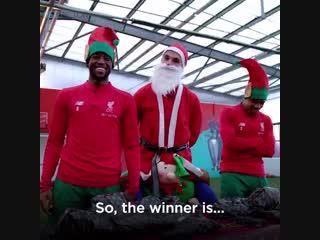 Liverpool christmas wrapping challenge!